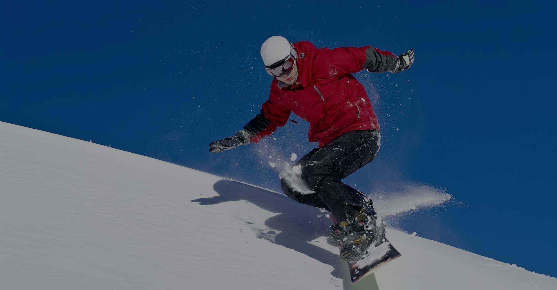 Snowboarder at Ponte di Legno